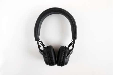KHARKOV, UKRAINE - APRIL 6, 2020: Marshall Bluetooth headphones, wireless, on a white background.