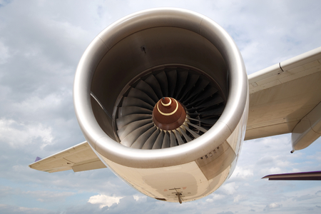 are thrust: Turbo fan engine thrust of commercial airplane