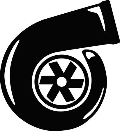 metal parts: Turbo Charger Vector Illustration