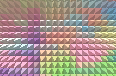 tints: Abstract geometric colorful background with pyramid extrude in pastel tints
