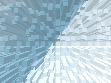 extrude: turquoise blue gradient extrude abstract background