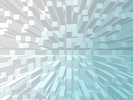 extrude: turquoise white gradient extrude abstract background