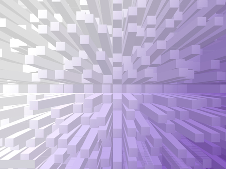 extrude: turquoise violet gradient extrude abstract background Stock Photo
