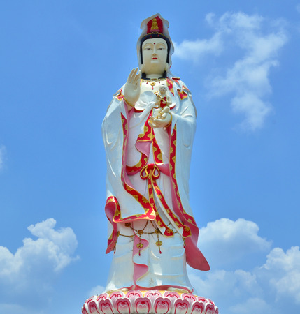 goddess of mercy: The images of Guanyin,Chinese god THE GODDESS OF COMPASSION AND MERCY Stock Photo