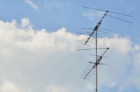 tv antenna: TV antenna view sky