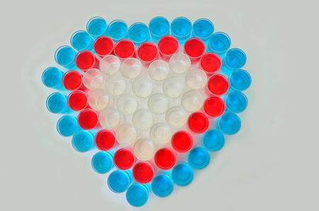 mug shot: heart pattern by mug shot and drink