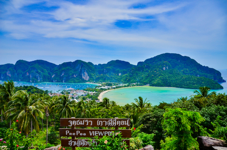 Phi Phi Island viewpoint at Krabi province in Thailand