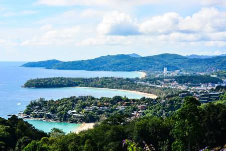 kata: Karon view point at Phuket Stock Photo