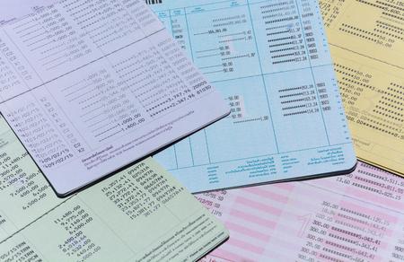 cuenta bancaria: libreta de cuenta bancaria Foto de archivo