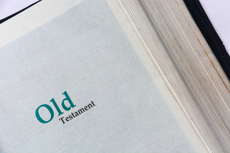 Old testament cover in Holy Bible