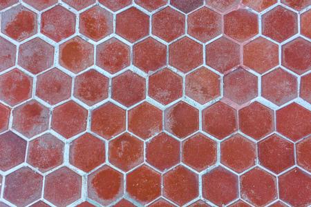 brown hexagonal clay tiles texture background