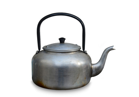 old tea kettle isolated on white background Stock Photo