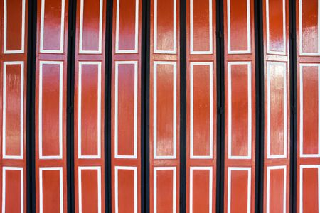 wooden Chinese vintage style folding doors painted by oil color Stok Fotoğraf