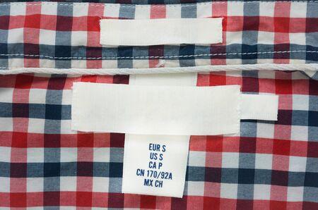blank texture label on shirt Stok Fotoğraf