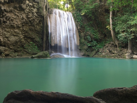 Erawan 폭포, 깐 차나 부리 주 태국 스톡 콘텐츠 - 87386641