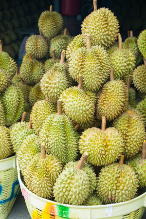 Durian , fruit in the market of thailand