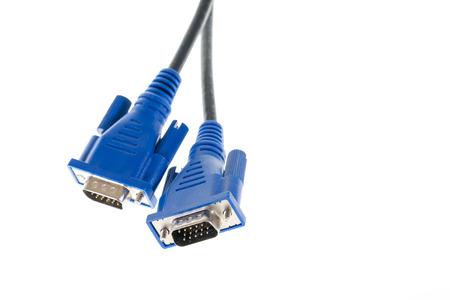 vga: cables VGA sobre blanco aislado