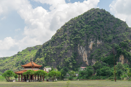 Chinese pavilion located near the mountains Considered good feng shui