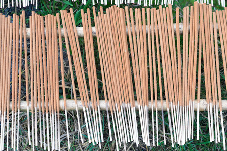 The last process of incense is to drying it exposed to sun light photo