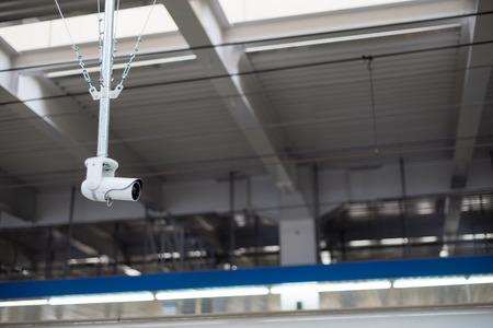 security monitor: Security CCTV monitor inappropriate behavior in public area Stock Photo