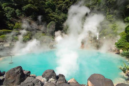 Hot Spring water boiling, Beppu, Oita, Japan Banco de Imagens