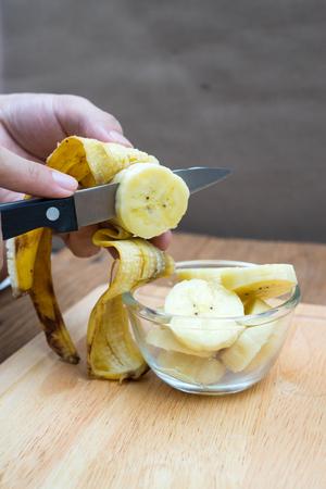 Slice a banana