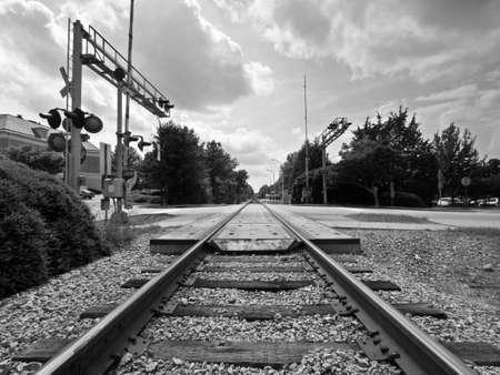 railroad crossing Banco de Imagens