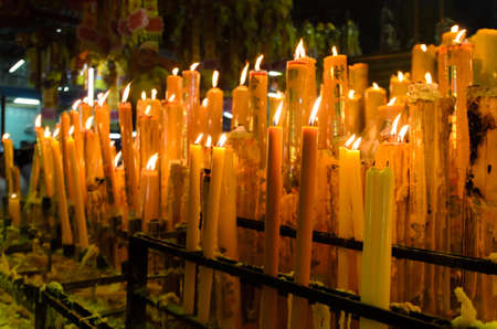 thialand: a lot of candle in chinese new year, china town, thialand Stock Photo