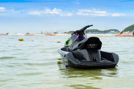 watercraft: jet ski on the sea Stock Photo