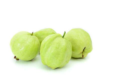 Guava on white background Banco de Imagens