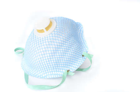 protective face mask on white background