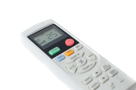 Air conditioner remote control at 25 degrees celsius