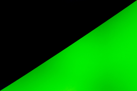 black half green background texture empty space.