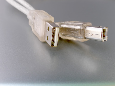 usb2: Close up shot of computer usb cable