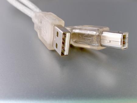 usb2: Close up shot of computer usb cable