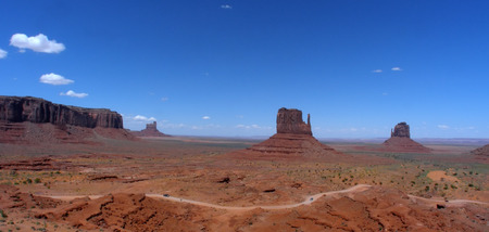 Landscape shot of the Monument Valley in Utah Imagens