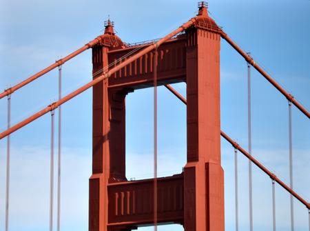 san francisco golden gate bridge: San Francisco golden gate bridge against blue sky