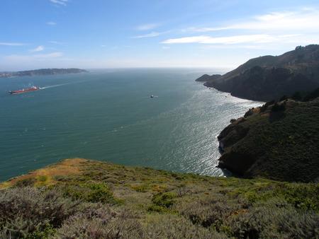 San francisco bay on a bright sunny day Imagens