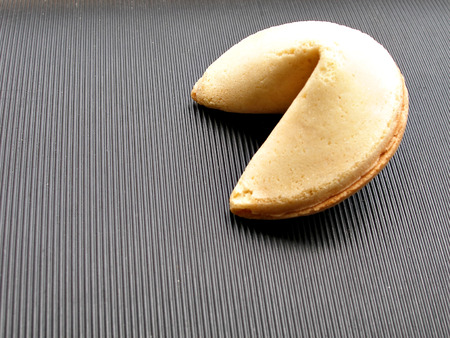 close up shot of chinese fortune cookie