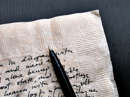 close up shot of written words on brown napkin