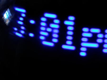 close up shot of digital alarm clock Imagens