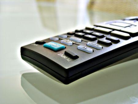 Close up shot of TV remote control