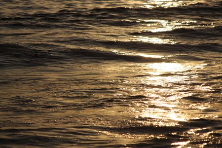 sunlight reflected in waves