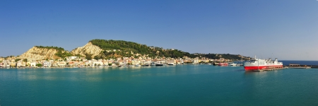 Panoramic view of the town and port of Zakynthos, Greece  Zante photo