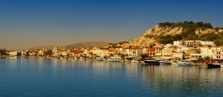 Panoramic view of the town and port of Zakynthos, Greece,  Zante city Standard-Bild