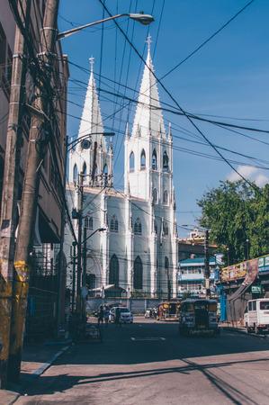 San Sebastian Church As Seen From Felix Hidalgo Street In Quiapo Manila