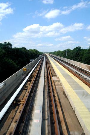 fuga: Railway seen from inside a train