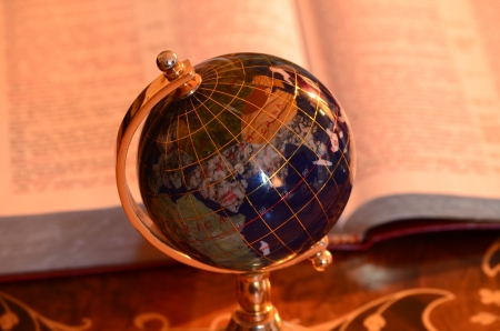 Globe and bible photo