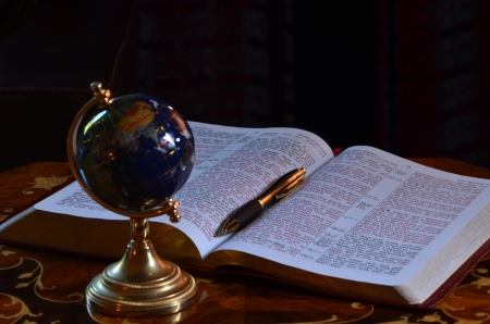 redemption of the world: globen bible and pen