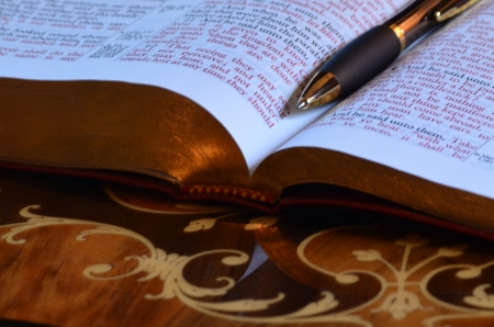 redemption of the world: Pen and holy bible